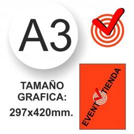 MARCO CLIC PERFIL CURVO 25MM A3